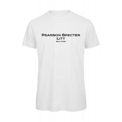 T-shirt uomo bianca suits Pearson specter litt