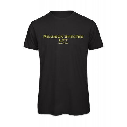 T-shirt uomo nera oro suits Pearson specter litt