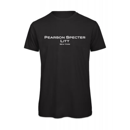 T-shirt uomo nera suits Pearson specter litt