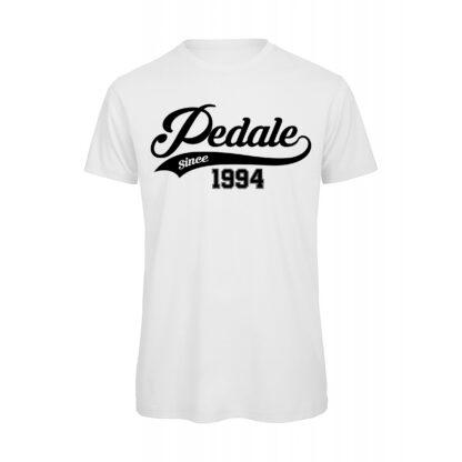 T-shirt Uomo Pedale Streami Personalizzabile bianca