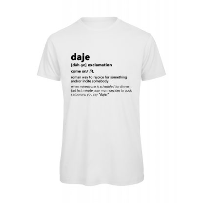 T-shirt uomo bianca Daje