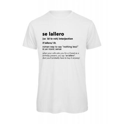 T-shirt Uomo Bianca Se Lallero