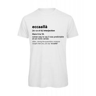 T-shirt uomo bianca Eccaallà
