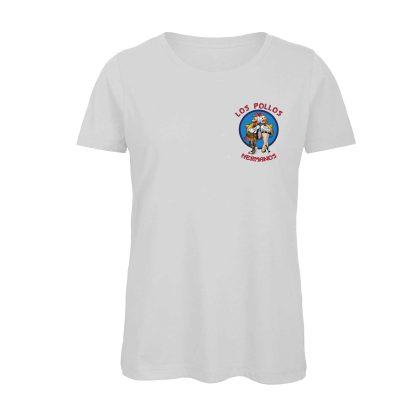 T-shirt Donna Bianca Los Pollos Ermanos SerieTV Breaking Bad