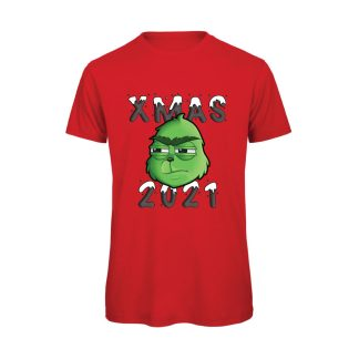 T-shirt-Boostit-Grinch-2021-xmas-cotone-organico-rossa