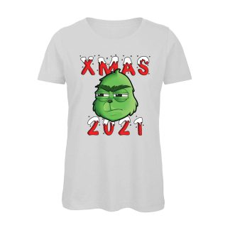 T-shirt-Boostit-Xmas-Grinch-2021-cotone-organico-bianco