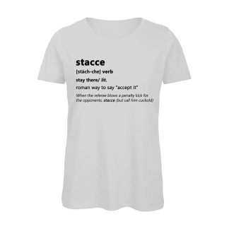 T-shirt donna bianca Stacce