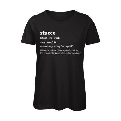 T-shirt donna nera Stacce