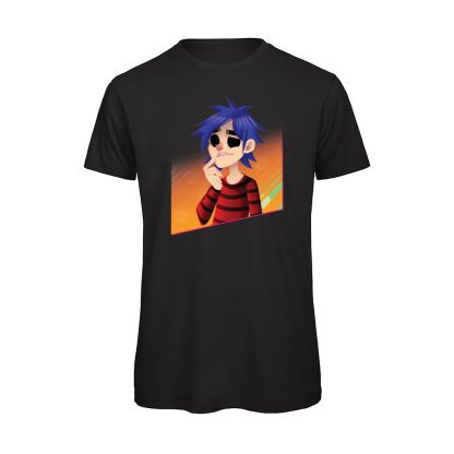 T-shirt Uomo nera gorillaz 2D
