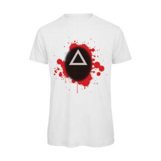 T-shirt-Boostit-Squid-Game-Maschera-Triangolo-bianco-uomo